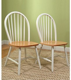 TMS 2-Pc. Windsor Chair Set - Natural White
