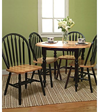 TMS Natural Black Double Drop Leaf Dining Collection
