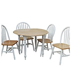 TMS Natural White Double Drop Leaf Dining Collection