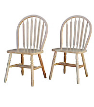 TMS Set of 2 Natural Finish Arrowback Chairs