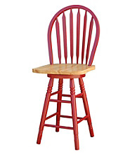 TMS Arrowback Stool - Red/Natural