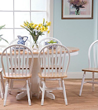 TMS Farmhouse White Dining Collection