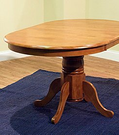 TMS Oak Finish Farmhouse Table