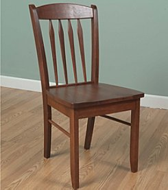 TMS Savannah Hardwood Desk Chair - Cherry Finish
