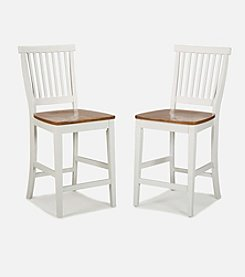 Home Styles® Counter Stool - White/Oak