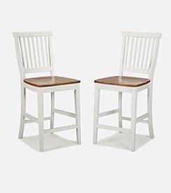 Home Styles® Counter Stool - White/Oak