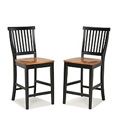 Home Styles® Black/Oak Counter Stool