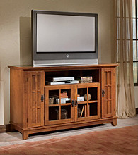 Home Styles® Arts & Crafts Entertainment Credenza - Cottage Oak
