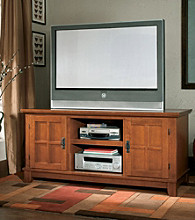 Home Styles® Arts & Crafts Entertainment Console - Cottage Oak