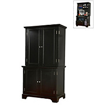 Home Styles® Bedford Compact Office Cabinet and Hutch - Ebony
