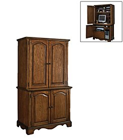 Home Styles® Country Casual Cabinet and Hutch - Oak