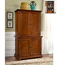 Home Styles® Homestead Cabinet and Hutch - Warm Oak