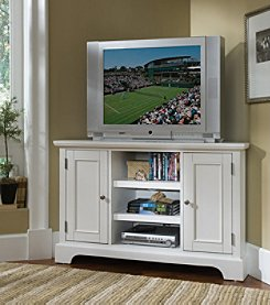 Home Styles® Naples Corner Entertainment Stand - White