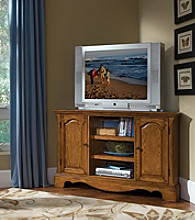Home Styles® Country Casual Corner Entertainment Stand - Oak