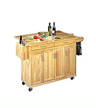 Home Styles® Wood Top Kitchen Cart with Breakfast Bar - Natural