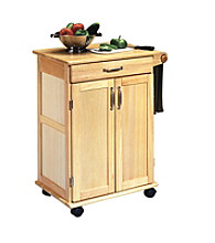 Home Styles® Kitchen Cart with Panel Doors - Natural