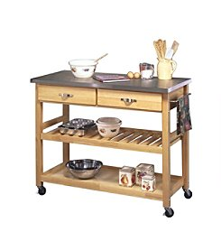 Home Styles® Kitchen Cart with Stainless Steel Top - Natural