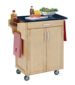 Home Styles® Cuisine Kitchen Cart with Black Granite Top - Natural