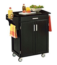 Home Styles® Cuisine Kitchen Cart with Black Granite Top - Black