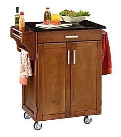 Home Styles® Cuisine Kitchen Cart with Black Granite Top - Cottage Oak