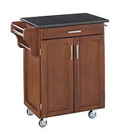 Home Styles® Cuisine Kitchen Cart with Black Granite Top - Medium Cherry