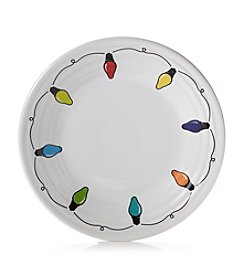 Fiesta® Dinnerware Christmas Lights Holiday Luncheon Plate