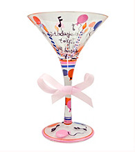 Delish™ Stemware - Happy Birthday Martini