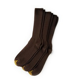GOLD TOE® Men's 3-Pack Brown