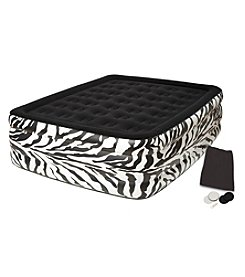 Pure Comfort Queen Raised Flocked Air Bed - Zebra