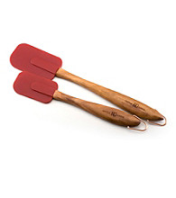 Paula Deen® Signature 2-pc. Red Wood with Silicone Spatula Set