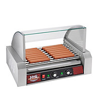 Great Northern Popcorn Company Mad Dawg Professional 9-roller Hot Dog Machine with Cover
