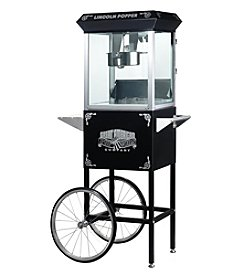 "Great Northern Popcorn Company ""Lincoln"" 8-oz. Antique Popcorn Machine and Cart - Black"