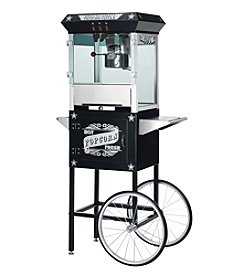 "Great Northern Popcorn Company ""Paducah"" 8-oz. Antique Popcorn Machine and Cart - Black"