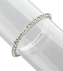 BT-Jeweled Single Row Stretch Bracelet - Crystal/Silvertone
