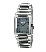 Kenneth Cole New York® Men's Wide Two-Tone Gunmetal Watch