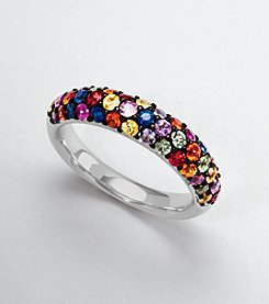 Effy® Sterling Silver Multicolor Sapphire Ring