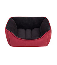 Soft Touch Reversible Rectangular Faux Suede Cuddler Dog Bed