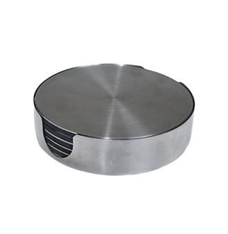 Thirstystone® Stainless Steel Round Coaster Set