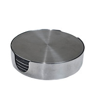 Thirstystone® Stainless Steel Round Coaster Set