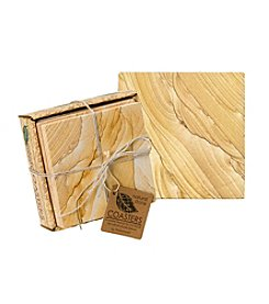 Thirstystone® Set of Four Natural Sandstone Coasters