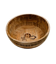 Thirstystone Seashell Bamboo Salad Bowl
