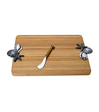 Thirstystone Seashell Bamboo Serving Board Set