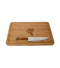 Thirstystone Grapes Bamboo Cutting Board Set
