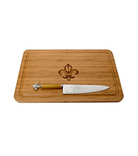 Thirstystone Fleur de Lis Bamboo Cutting Board Set