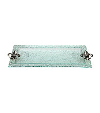 Thirstystone® Fleur de Lis Glass Serving Tray