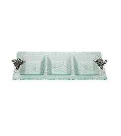 Thirstystone® Grapes 3-Section Glass Serving Tray