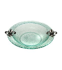 Thirstystone® Fleur de Lis Round Glass Bowl