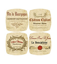 Thirstystone® Appetizer Plates - Wine Labels Collection