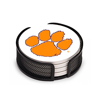 Thirstystone® Clemson University 4-pc. Coaster Set with Holder