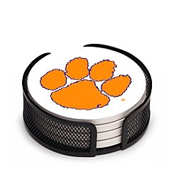 NCAA® Clemson University 4-pc. Coaster Set with Holder